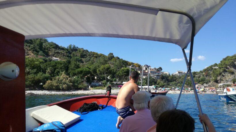 taormina tour in barca
