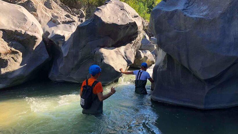 straight into the waterfall Alcantara